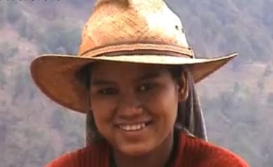 Girl in Himalayas