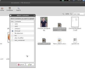 Screensho uploading to Rackspace Cloud File form Nautilus