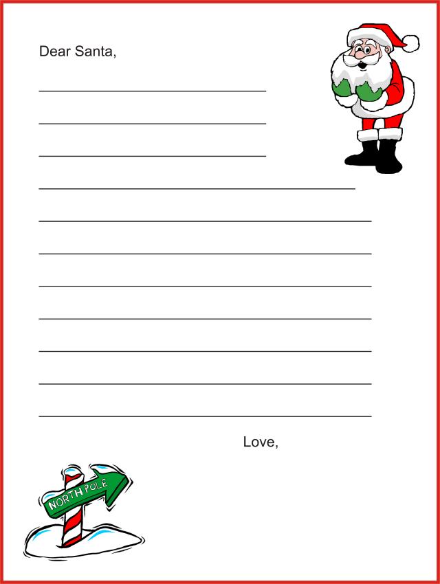 Letter to santa template pdf free download spiritdancerdesigns Images