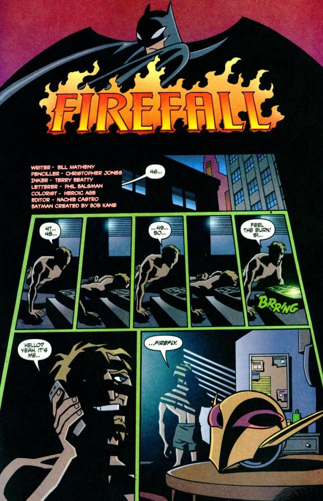 Batman Strikes #8 Title Page