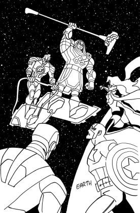 Ronan & Mar-Vel cover sketch
