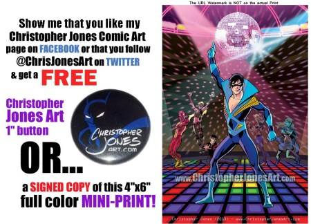 Get a free Disco Nightwing mini-print at Cincinnati Comic Expo!