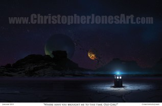 TARDIS-on-Alien-World-Framed-Print-prev