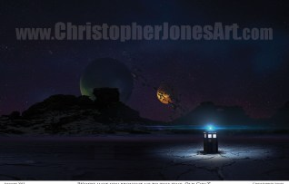 TARDIS-on-Alien-World-Framed-Print-prev