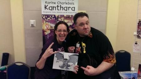 Greg, Karine and I are having a Gargoyles party at Hal-Con without you!