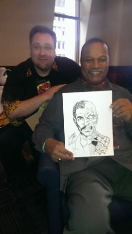 Billy Dee Williams with my Two-Face Sketch at Hal-Con