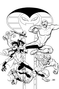 Young Justice #17 cover inks prev