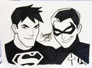 Sketch - Superboy & Drake Robin
