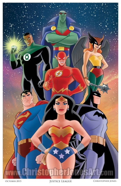 Justice League art print by Christopher Jones