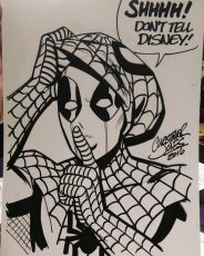 Headshot - Deadpool as Spiderman