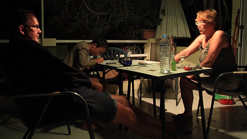 Nachts auf der Terrasse