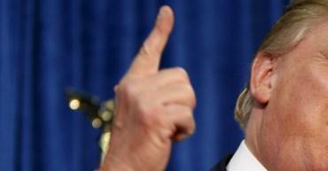 Donald Trumps Zeigefinger