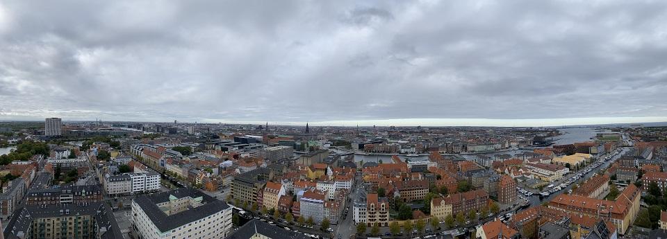 Københavns skyline fra Our Frelsers Kirke, København, Region Hovedstaden, Danmark