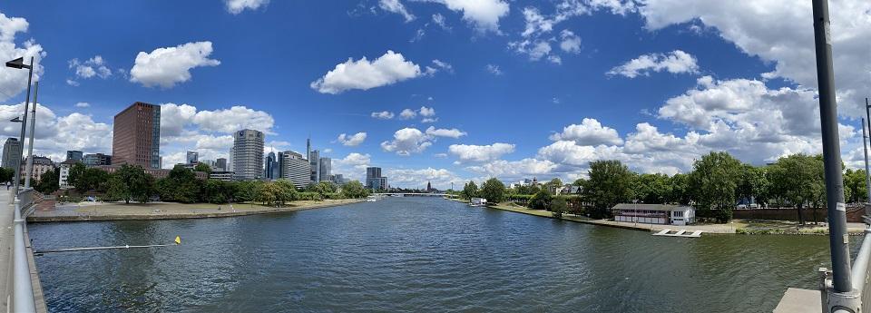 Skyline der Stadt Frankfurt, Frankfurt am Main, Hessen, Deutschland