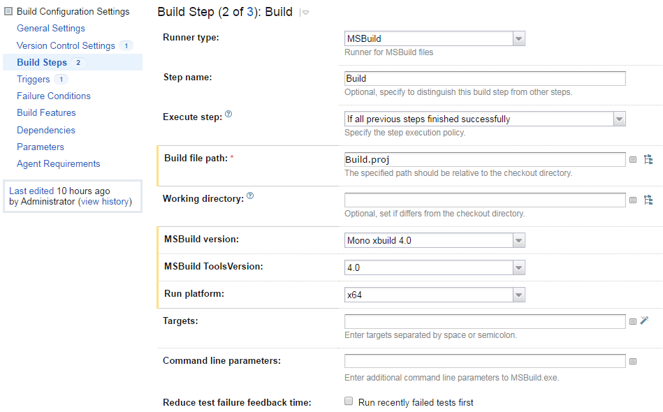 Msbuild exe properties | MSBuild path location differences for
