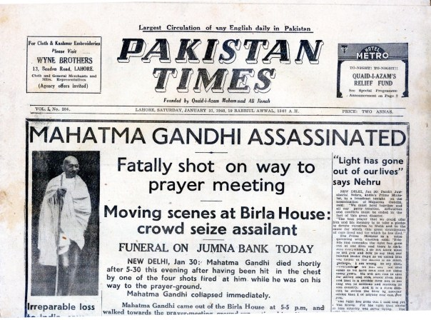 Image result for 1948 – Mahatma Gandhi is assassinated