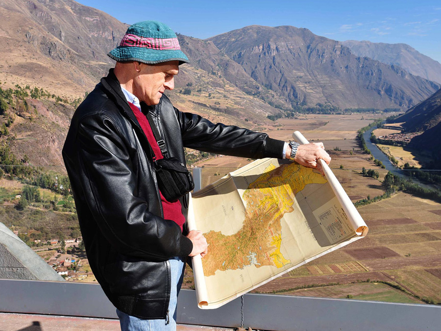 Daniel Debouck checks his map