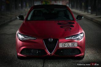 Alfa Romeo Giulia -Cherry Red - CiFol-Werbetechnik 12
