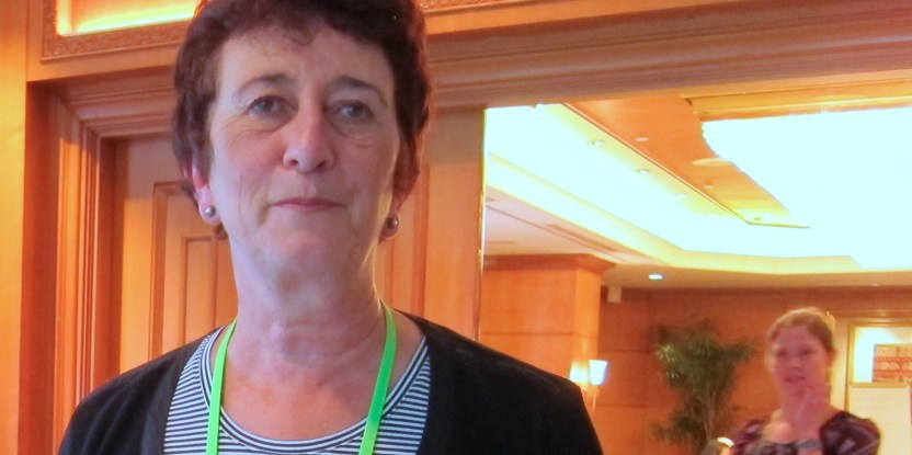 Peg Putt, currently chief executive of the anti-logging group Markets for Change, discussed her views on the sidelines of the Forests Asia Summit.