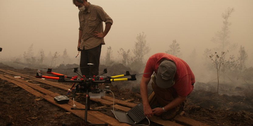 The biomass burned in the land fires in Central Kalimantan is causing toxic smoke. M. Edliadi/CIFOR