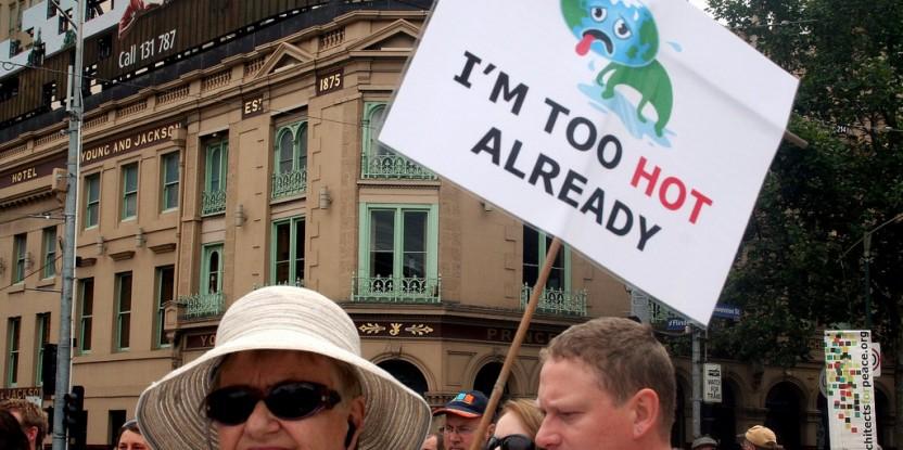 Marche contre le réchauffement en 2009. Paris est déjà des airs très différents de la COP15, l'échec d'il y a six ans . Takver / Flickr