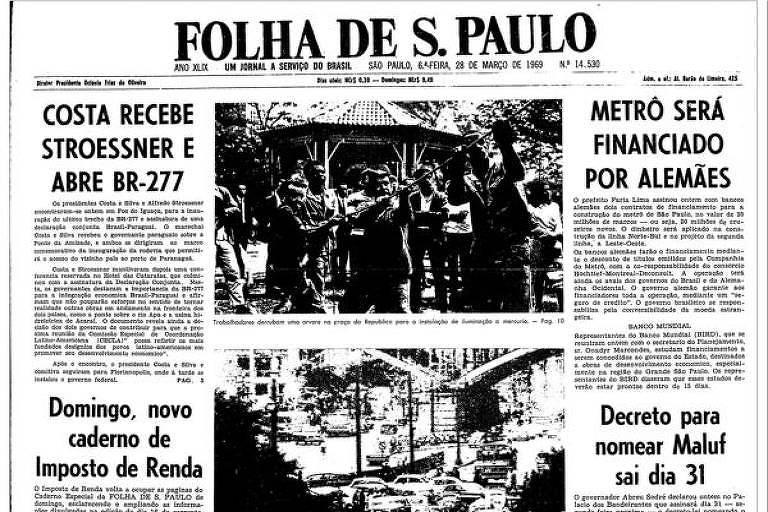 Imagem: Reprodução de matéria do Jornal Folha de S.Paulo.