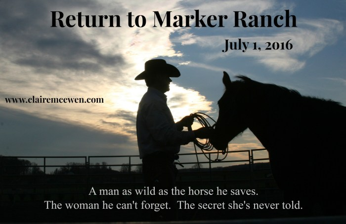 Marker Ranch Teaser, cowboy and horse