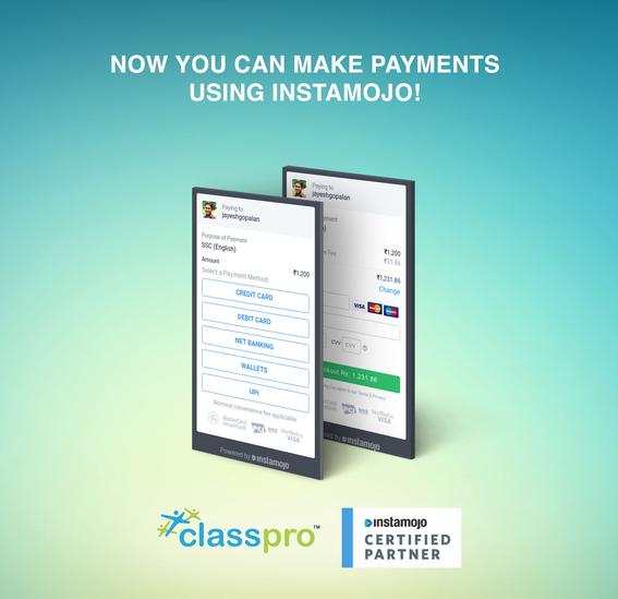 Classpro - Instamojo Integration