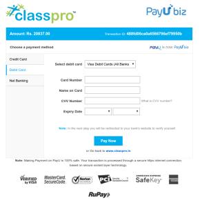 classpro & payubiz