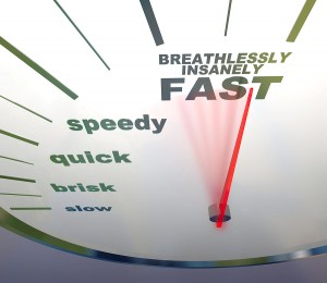Dragon NaturallySpeaking: A quicker way to blog (Big Stock Photo: Speedometer - Slow To Insanely Fast Image 5315337)