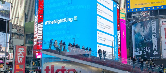 Twitter Game of Thrones Times Square Night King Emoji
