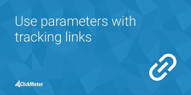 Use parameters with tracking links
