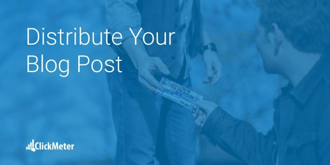 distribute blogpost