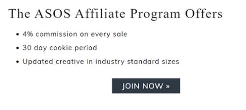 ASOS affiliate programs
