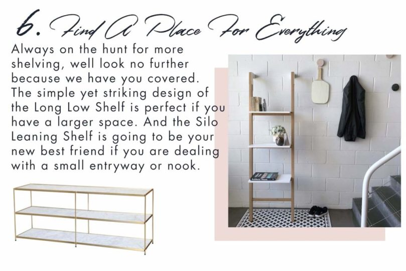 Storage solutions for your entryway