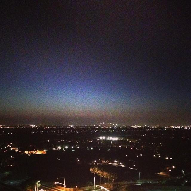 La vista dalla finestra, alle 5 del mattino