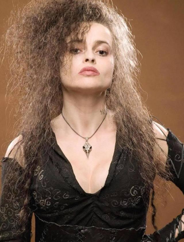 La crudele Bellatrix Lastrange in Harry Potter