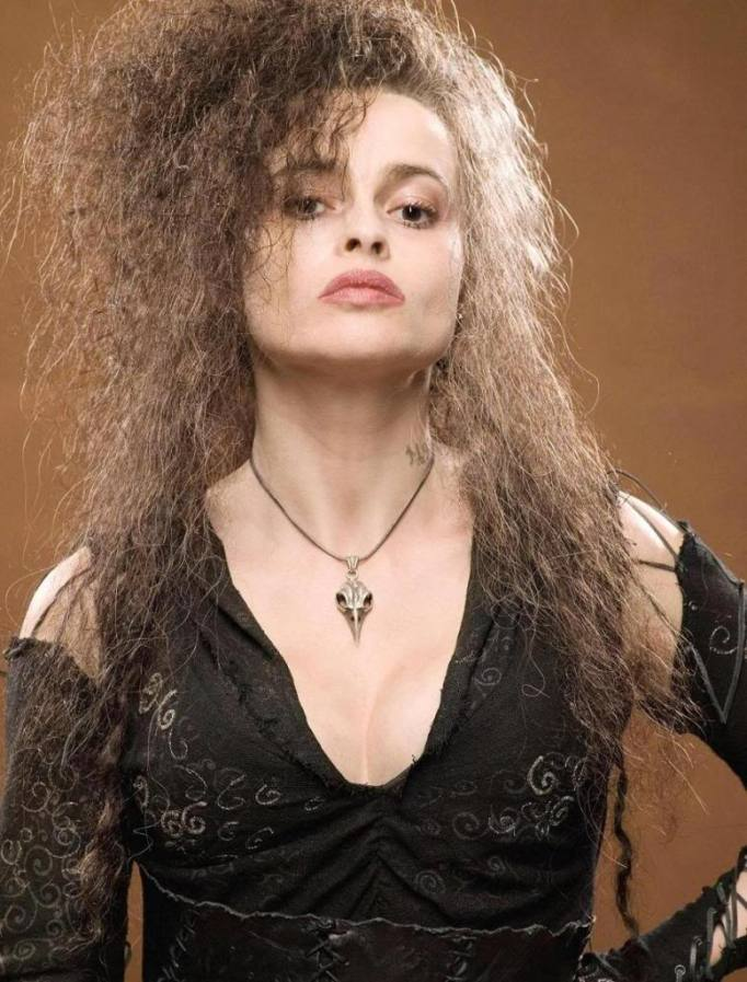 La crudele Bellatrix Lastrange in Harry Potter