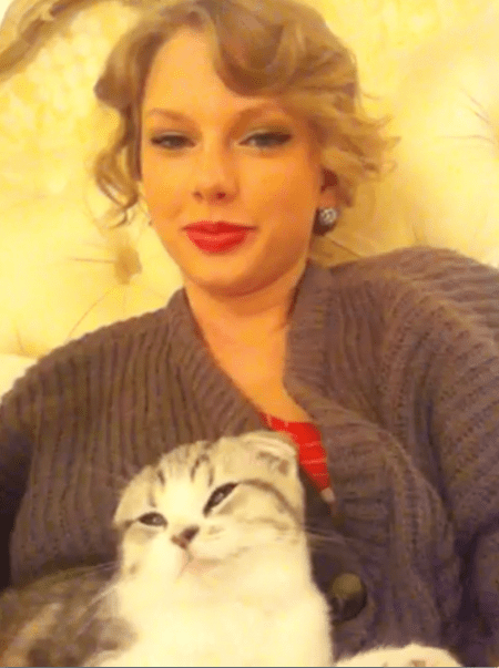 Taylor Swift e la sua gattina Meredith!