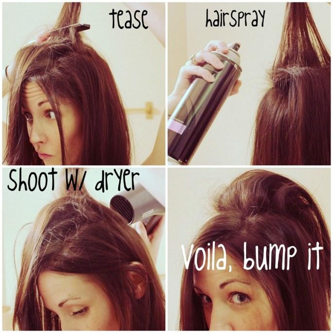 La lacca è utilissima anche se volete cotonare i capelli. Basta applicarla alla base della ciocca da cotonare e asciugare appena con il phon ;-) Credits www.kristanlynn.com