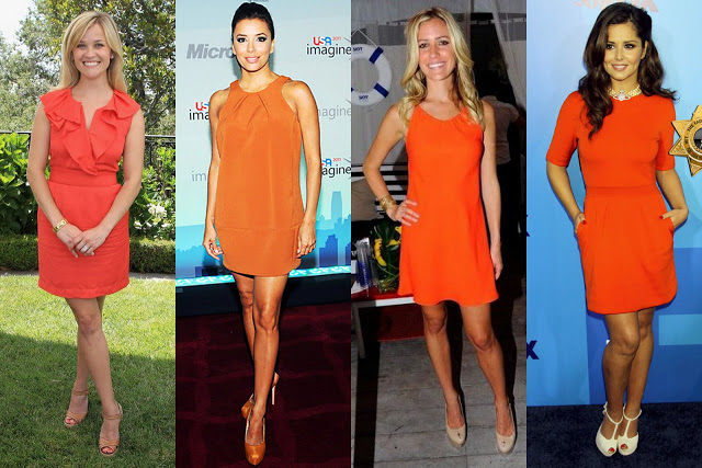 orange dresses 2
