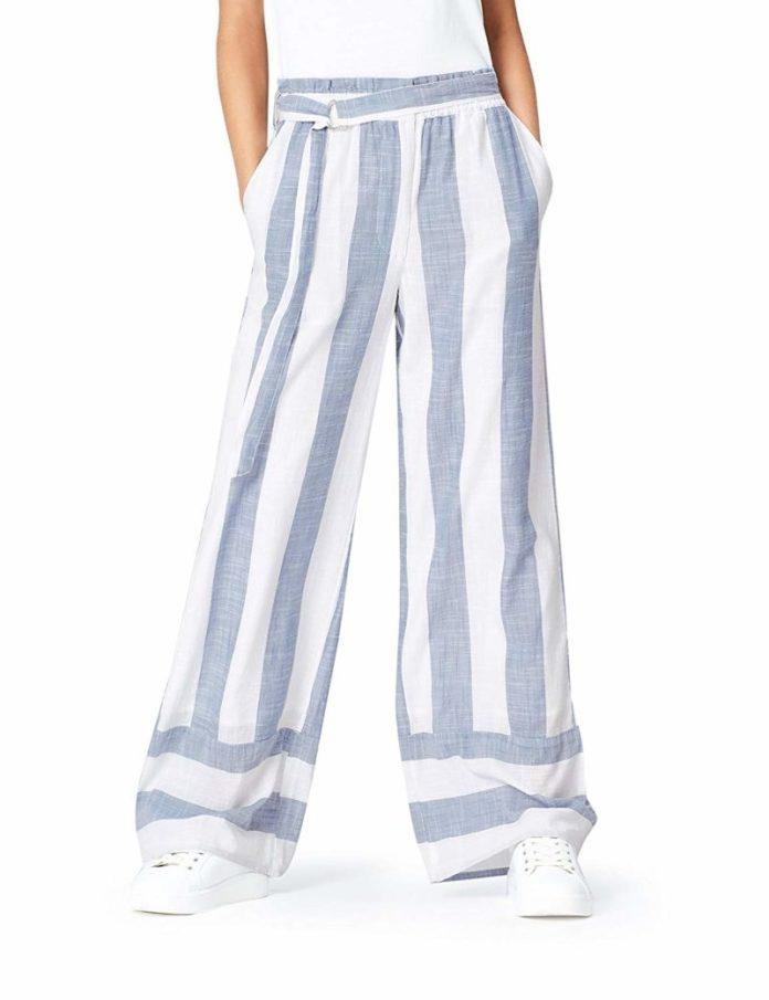 ClioMakeUp-abbinare-pantaloni-larghi-4-pantaloni-lino-amazon-find