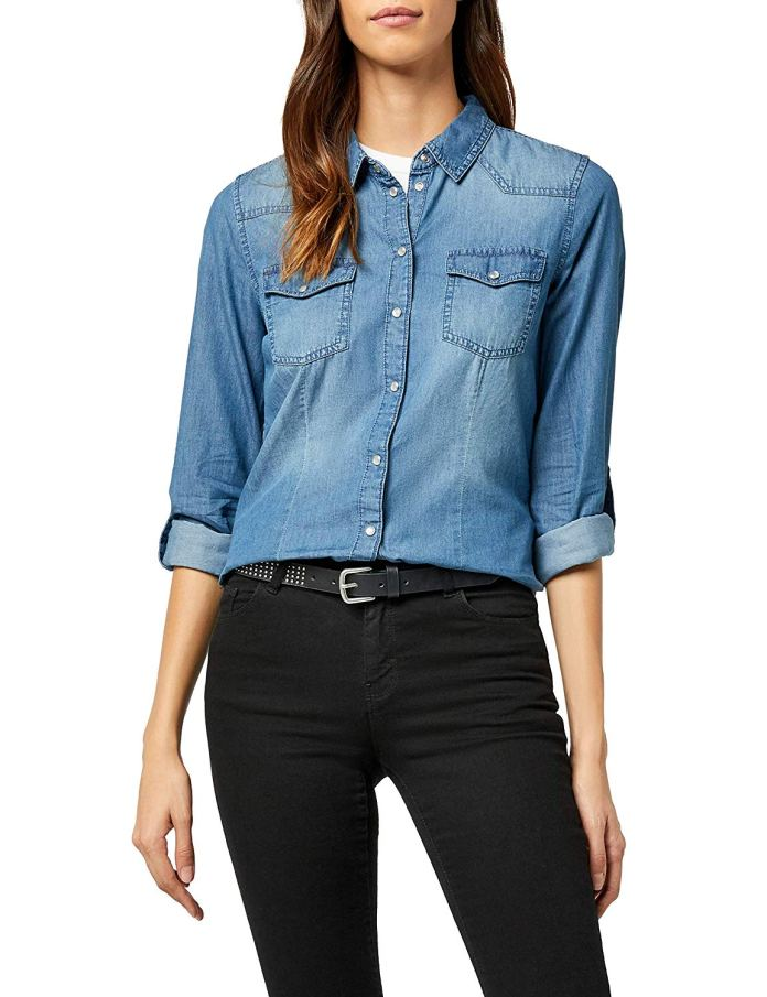 ClioMakeUp-come-indossare-camicia-jeans-14-only