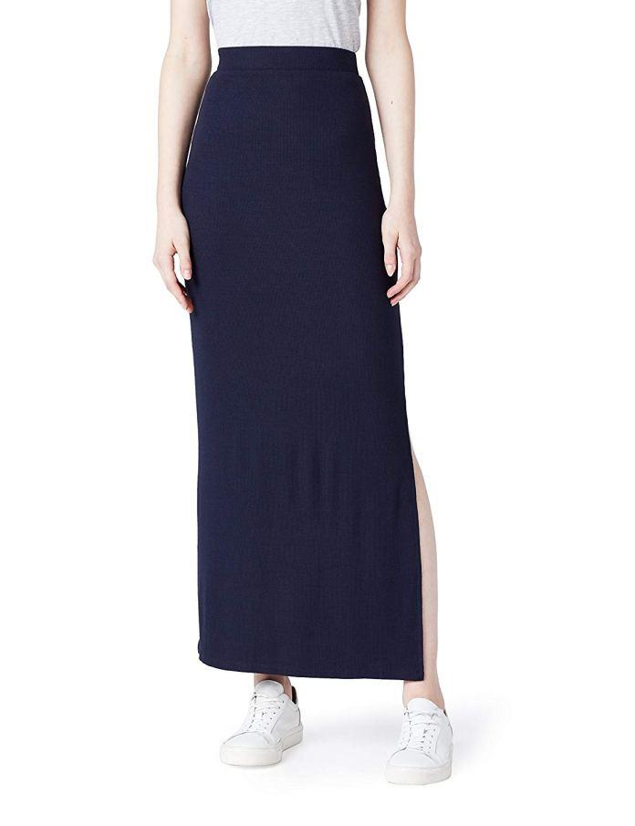 ClioMakeUp-come-indossare-camicia-jeans-18-gonna-lunga-slim