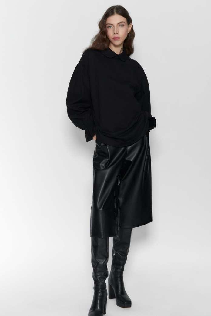 Cliomakeup-look-con-camicia-21-zara-camicia-nera-pelle