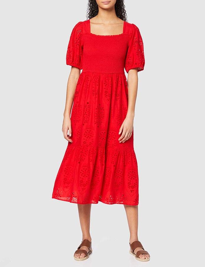 Cliomakeup-look-estivi-2020-3-find-vestito-rosso-boho