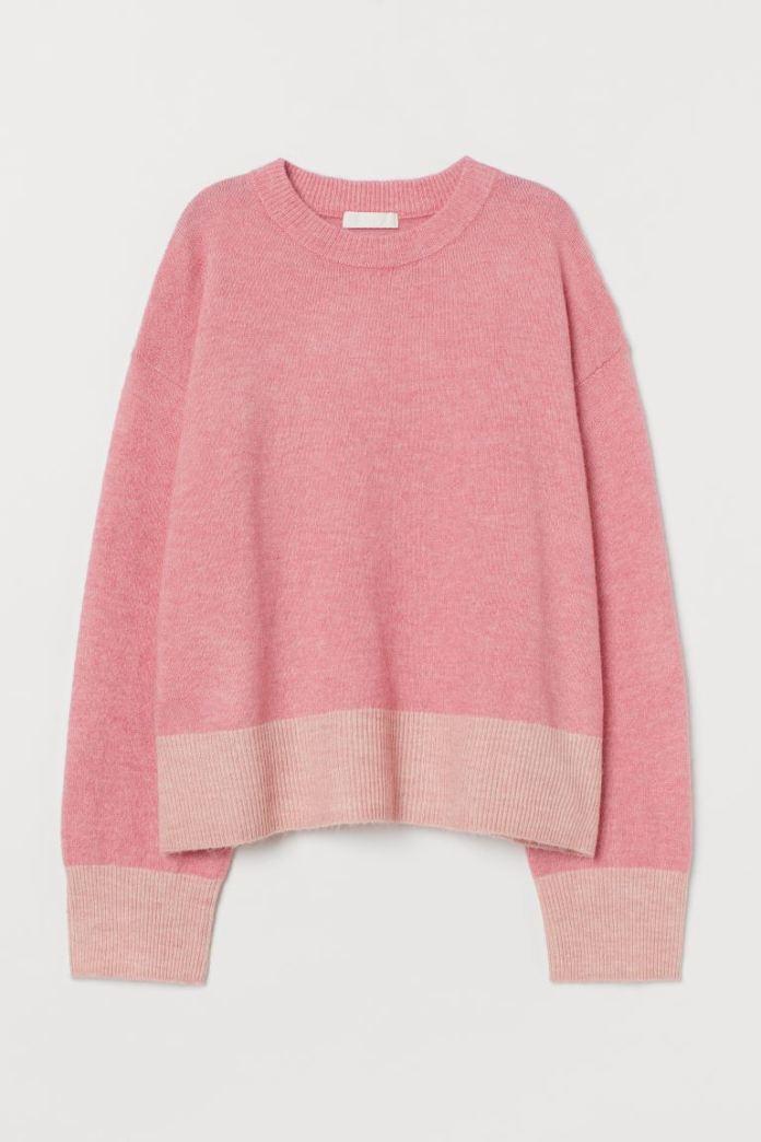 Cliomakeup-maglioni-donna-autunno-2020-4-hm-Pullover-maglia-rosa