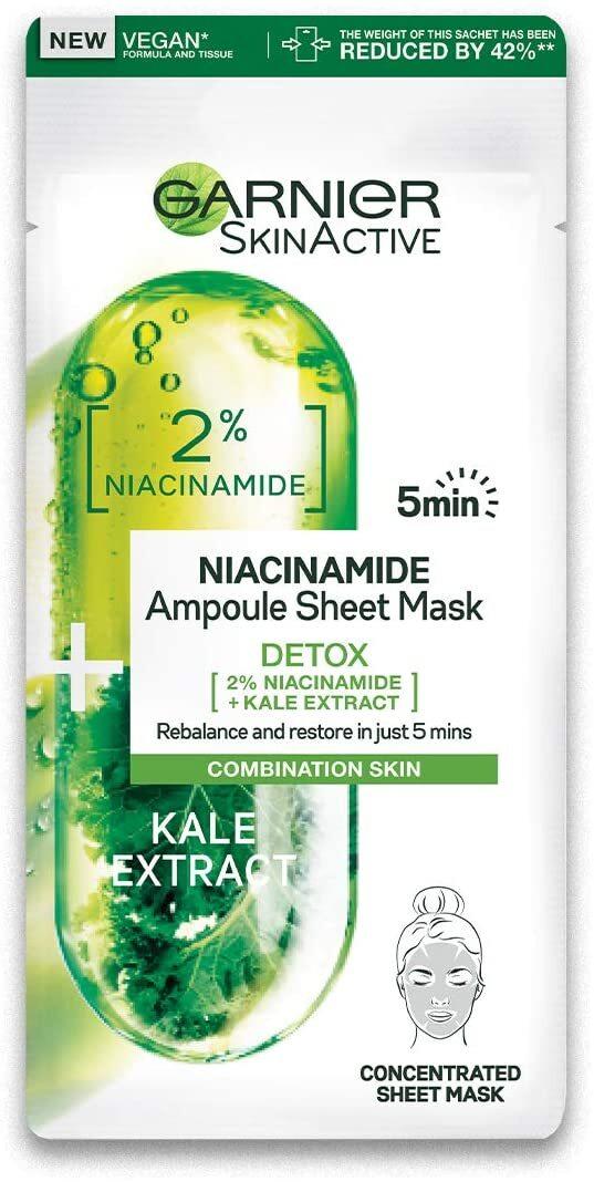 cliomakeup-skincare-routine-prodotti-economici-garnier-maschera-niacinamide