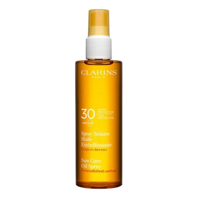 cliomakeup-protezione-solare-capelli-2021-clarins-olio-secco-capelli