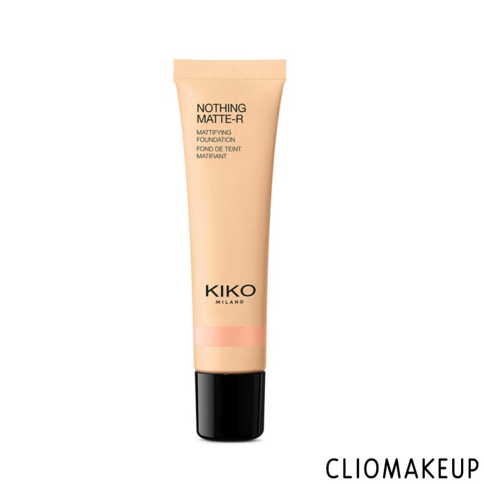 cliomakeup-recensione-fondotinta-kiko-nothing-matte-r-mattifying-foundation-1